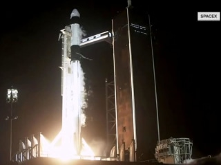 SpaceX launches 4 astronauts to International Space Station