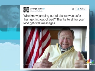 President George H.W. Bush Tweets Thumbs Up Recovery Photo