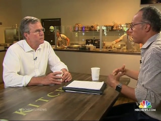 Bush Goes One-On-One with Lester Holt on Race, Politics and Rivals