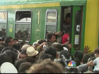 'We Are Not Animals': Desperate Refugees Stopped on Train by Riot Police