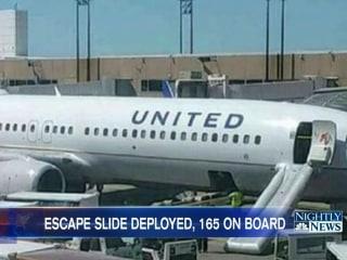 Jet's Emergency Slide Inflated, Despite No Emergency