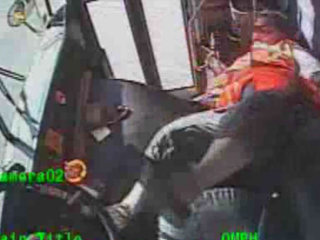 Dash Cam Captures Bus Driver Losing Control