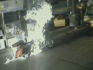Motorcyclist Engulfed in Fire Saved by Bystanders