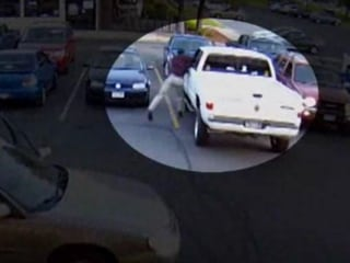 Camera Captures Parking Lot Punch