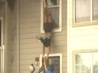 Caught On Cam: Victims Jump From Apartment Fire