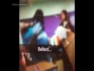 Classroom Brawl Caught On Camera