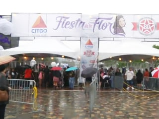 Rain Didn't Deter Selena Fans at First Fiesta de la Flor