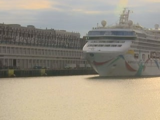 Stuck Cruise Ship Returns to Boston