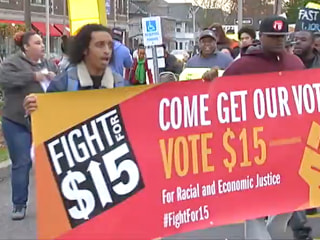 Fast Food Workers Strike for Higher Wages