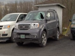 Flying Ice Chunk Injures Driver