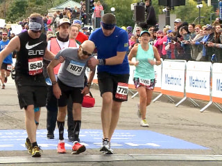 Helping Hands for Minnesota Marathoner to Cross the Finish Line