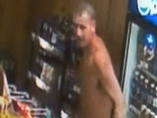 Naked Burglar Trashes Store