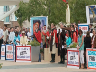 Protesters Rally Against 'Black Mass'