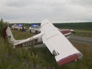 Pilot Makes Emergency Landing on Alaska Highway
