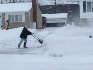 Snow Shoveling Gets Heated