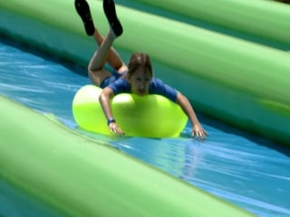 Street Transforms Into Giant Waterslide