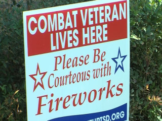 Veterans Asking for Courtesy with Fireworks