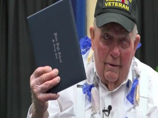 World War II Vet Receives Diploma