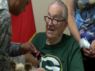 WWII Vet Receives Overdue Medals
