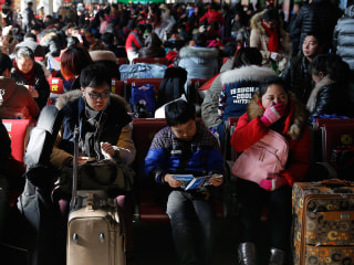 Beijing Rail Station Feels the Strain as Lunar New Year Approaches