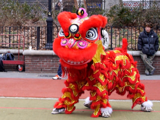 Lion Dancers Prepare to Ring in the New Year