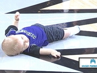 Baby Pauses for Nap During Race