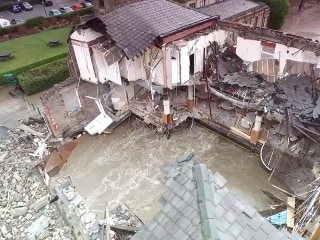 A River Runs Through It: British Pub Washed Away in Floods
