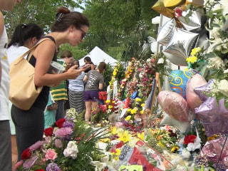 Memorial in front of Charleston Church Grows