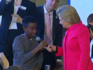 Kid Asks Hillary Clinton 'How is it like Meeting Donald Trump'?