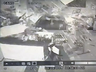 Watch Robbers Plow Car Into Gun Store