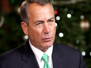 Boehner in Holiday Spirit With 'Twas the End of the 113th Reading