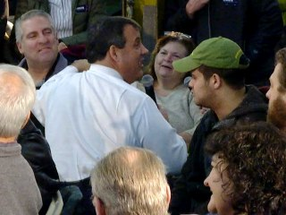 Christie Gets Down on One Knee for Undecided Voter