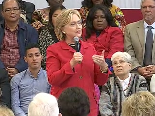 Clinton Jabs Bush Over 'Stuff Happens' Remark