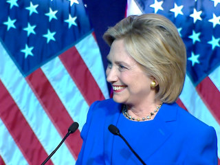 Clinton Jumps in the Game With Trump Hair Joke