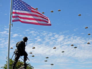 Paratroopers Drop from the Sky to Close D-Day Anniversary