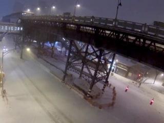 Drone Captures Harlem During Storm