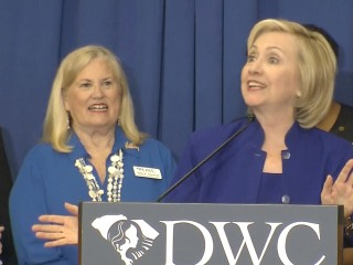Clinton Jokes Her Hair Won't Turn Gray in the White House