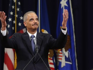 'I Love You All Madly': Eric Holder Exits DOJ