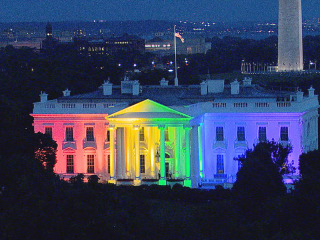 White House 'Pretty Cool' in Rainbow Colors, Says Obama