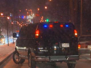 Watch Obama's Motorcade Slip and Slide Through Snowy Streets