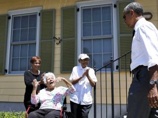 Obama Visits New Orleans Neighborhood Rebuilt After Katrina