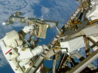 Spacewalkers Venture Outside ISS