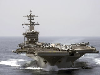 White House Asked About U.S. Carrier Tracking Iranian Ship in Mideast