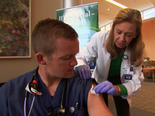 Hospital's In-Your-Face Flu Vaccine Campaign Gets Nearly Full Coverage
