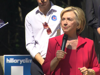 Clinton Says Her Campaign is About The Economy