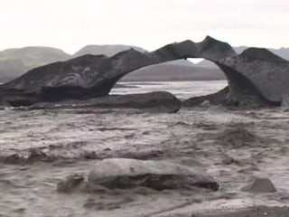 Melting Glacier Causes Flooding in Iceland