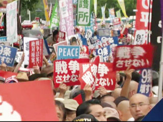 Thousands Protest as Japan Moves to Expand Military