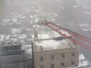 Witness Who Shot Crane Collapse: 'It Started Falling on Its Own'