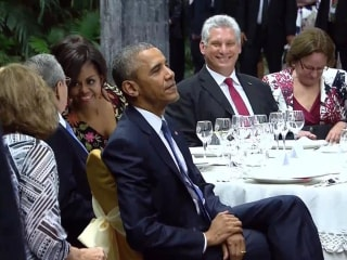 Obamas Attend State Dinner in Cuba