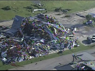 Aerial Tour of Mississippi Tornado Aftermath